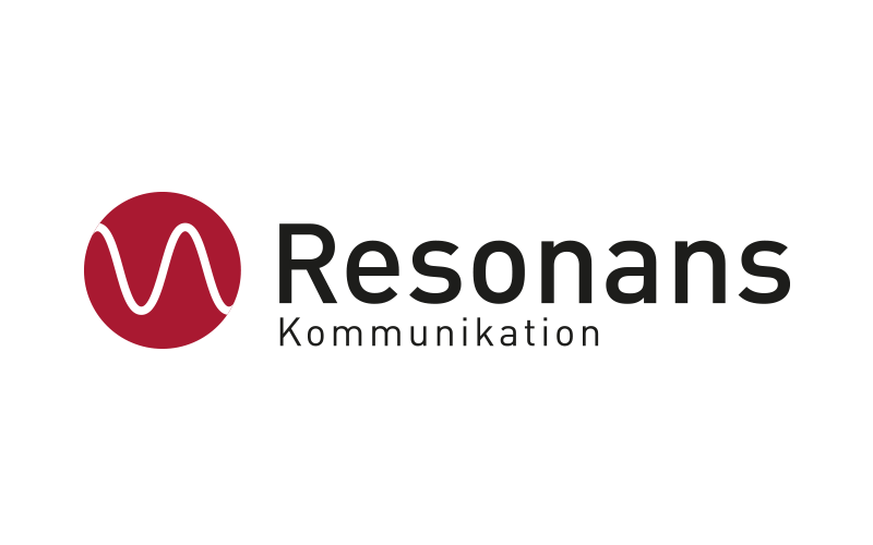 Resonans Kommunikation logo - Design: Peter Daniel Olsen